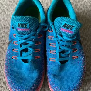 Nike Shoes - NIKE Free RN Distance Sneakers Pink, Blue, Purple